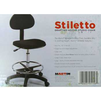Martin Stiletto Drafting Chair with Foot Ring